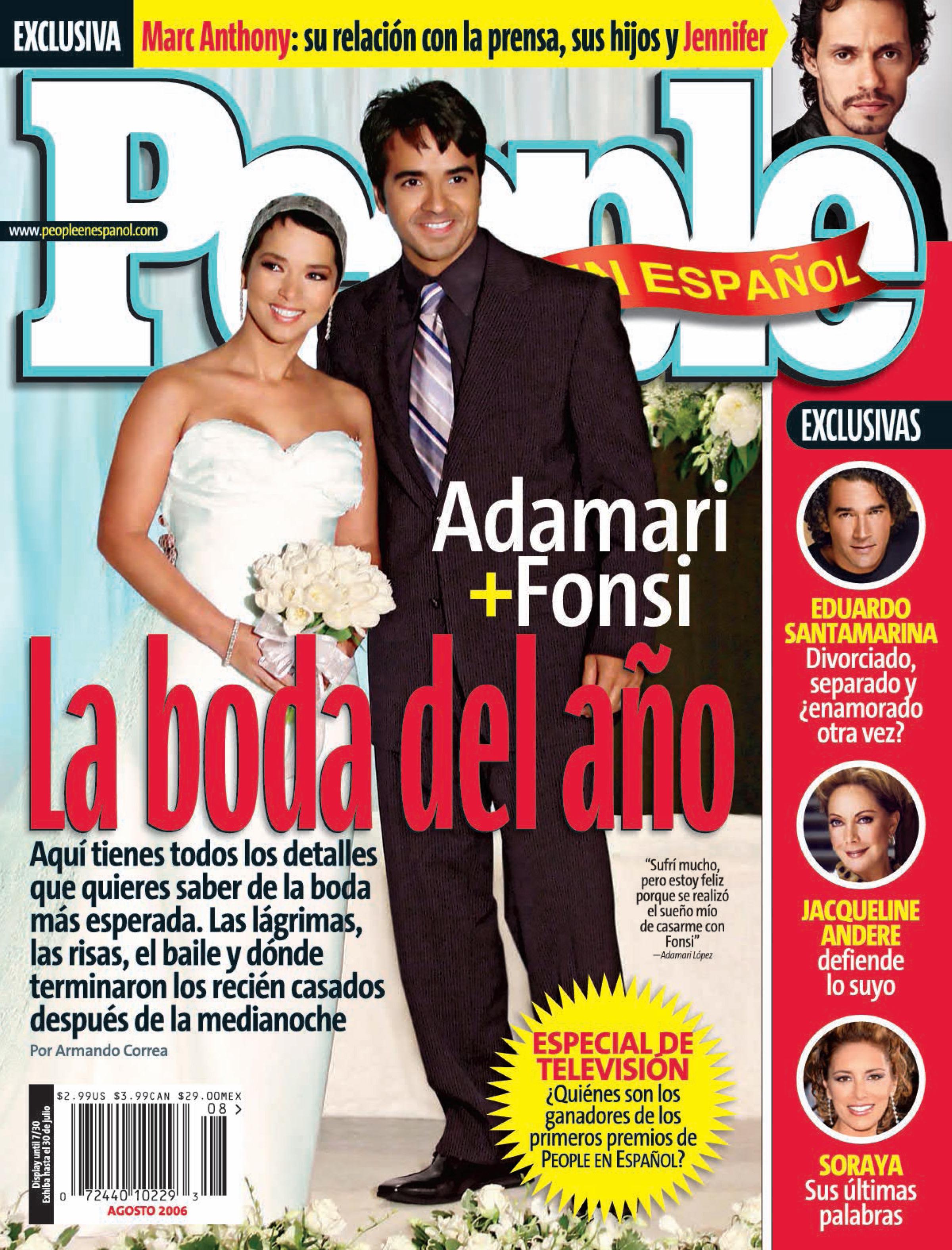 Adamari Lopez y Luis Fonsi - Portada Agosto 2006