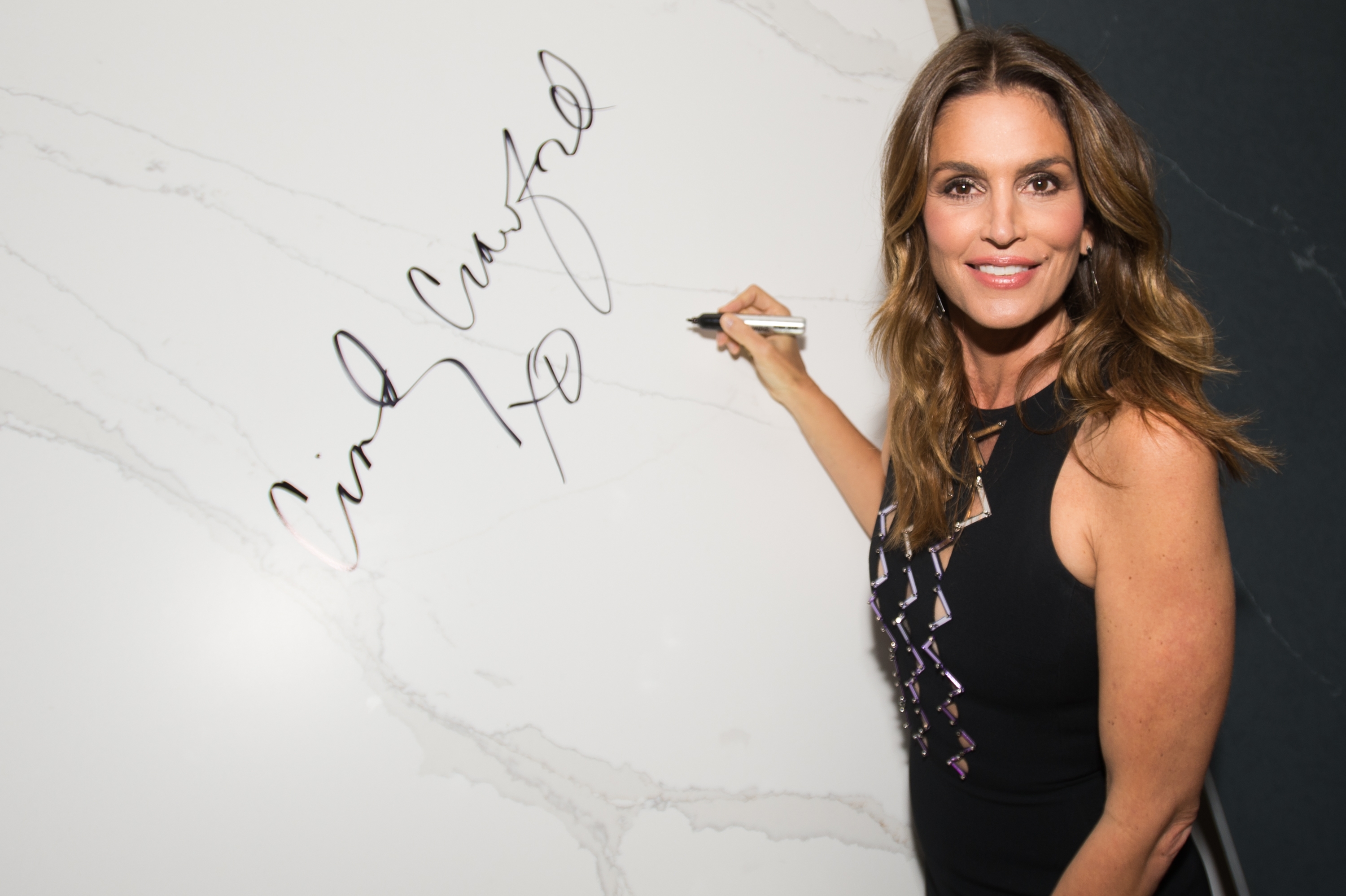Cindy Crawford And Eduardo Cosentino NA Launch Silestone's  Eternal Beauty And Eternal Style  Collection