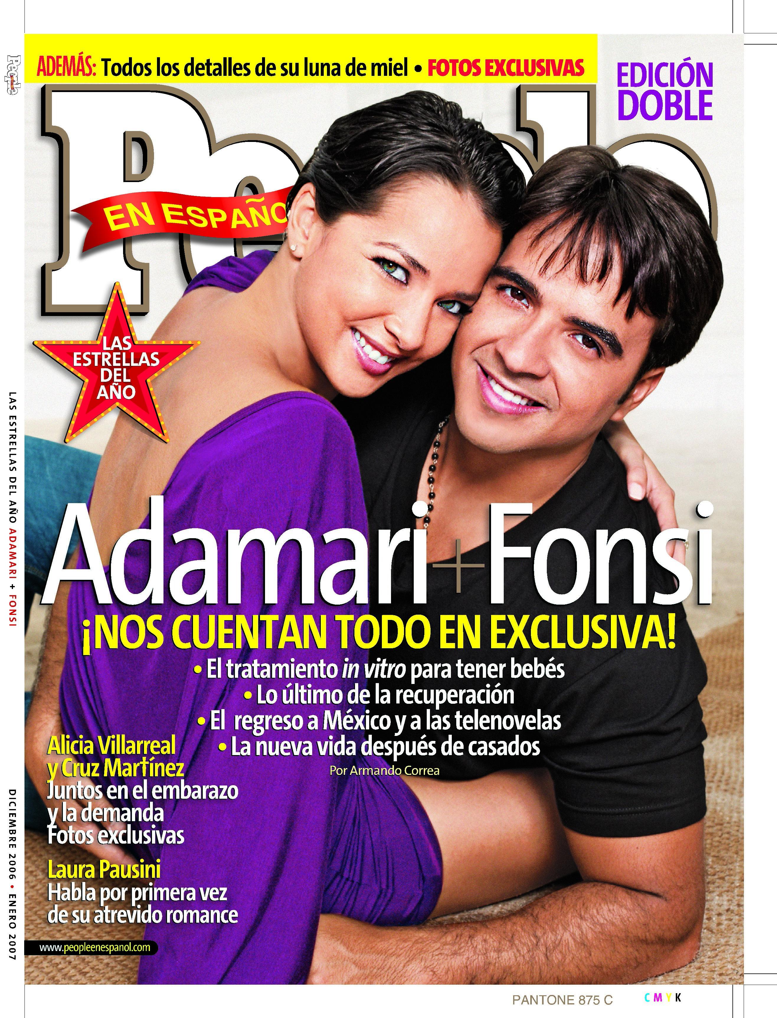 Adamari Lopez y Luis Fonsi - Portada Diciembre 2006