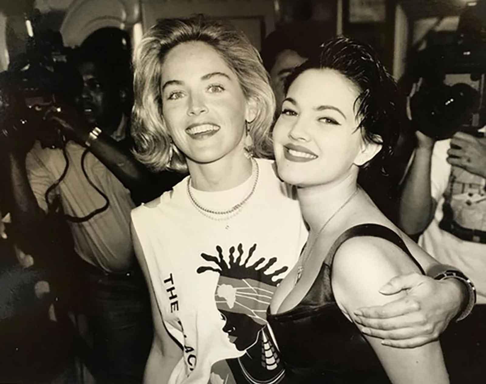 Sharon Stone y Drew Barrymore