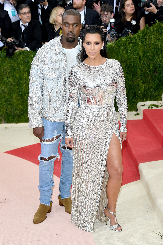 Kayne West y Kim Kardashian West en el Met Gala