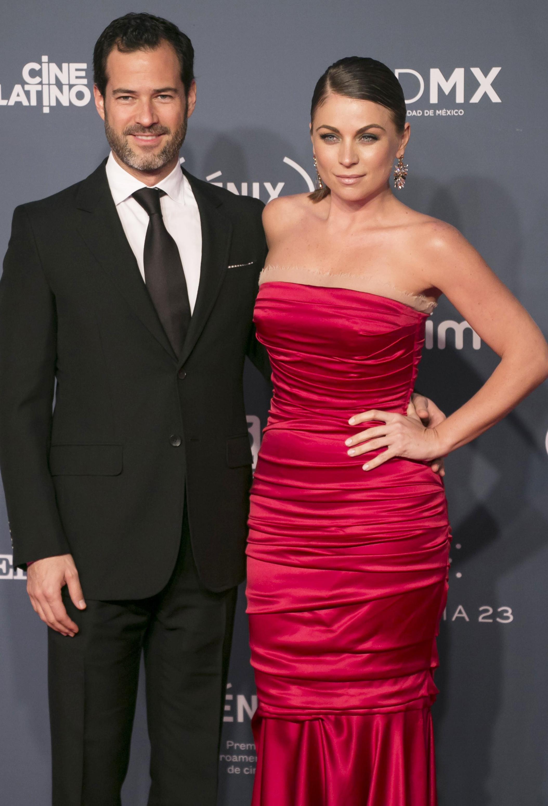Emiliano Salinas and Ludwika Paleta
