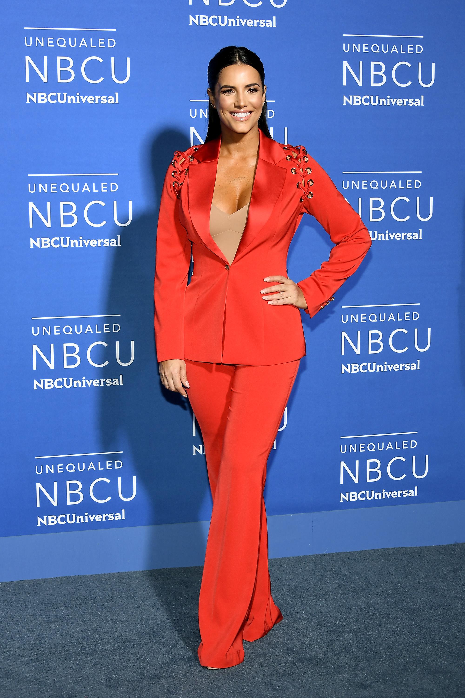 Gaby espino, conjunto, set, pantalon y chqueta, rojo
