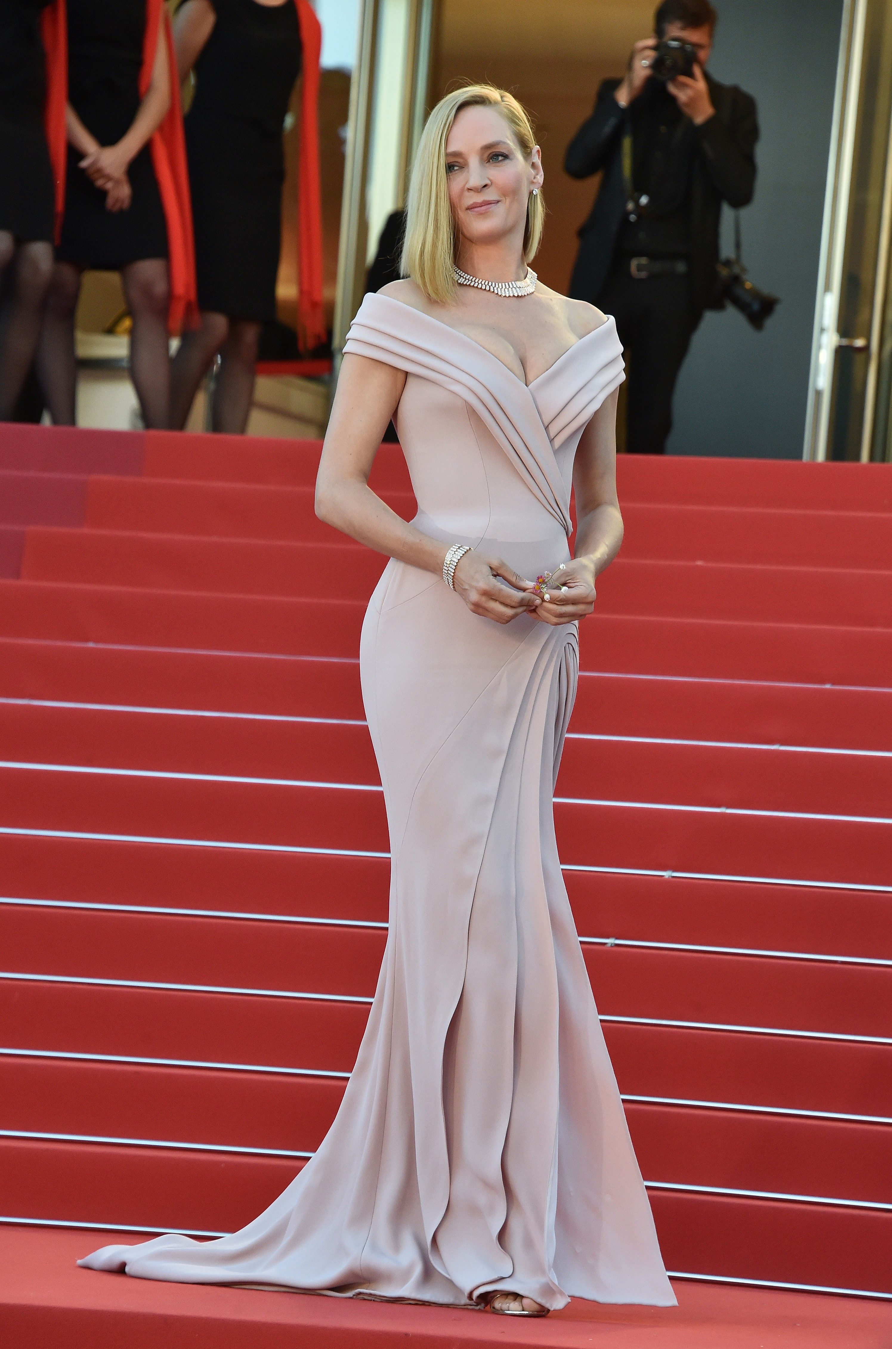 Uma Thurman, look, style, cannes 2017