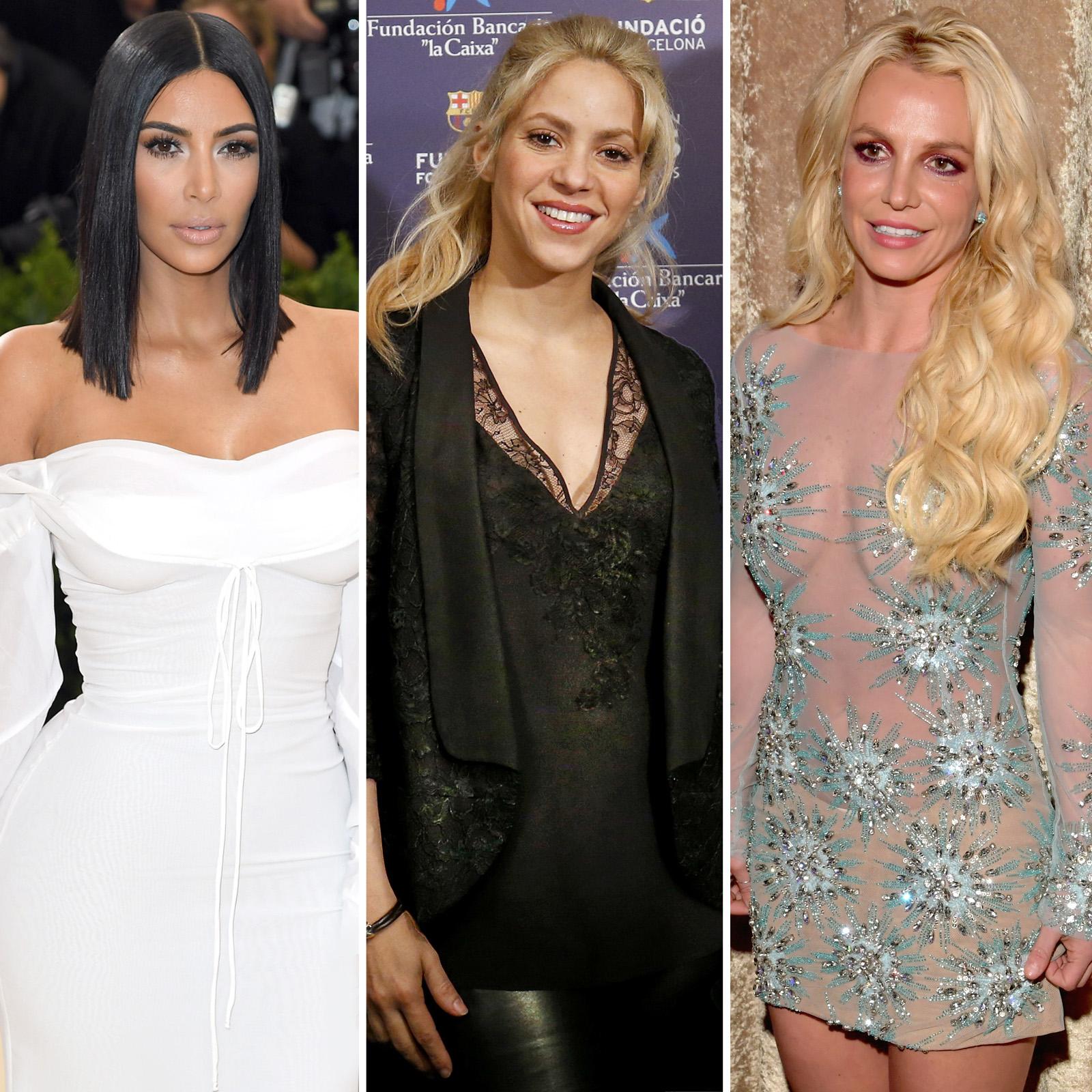 Kim Kardashian, Shakira y Britney Spears