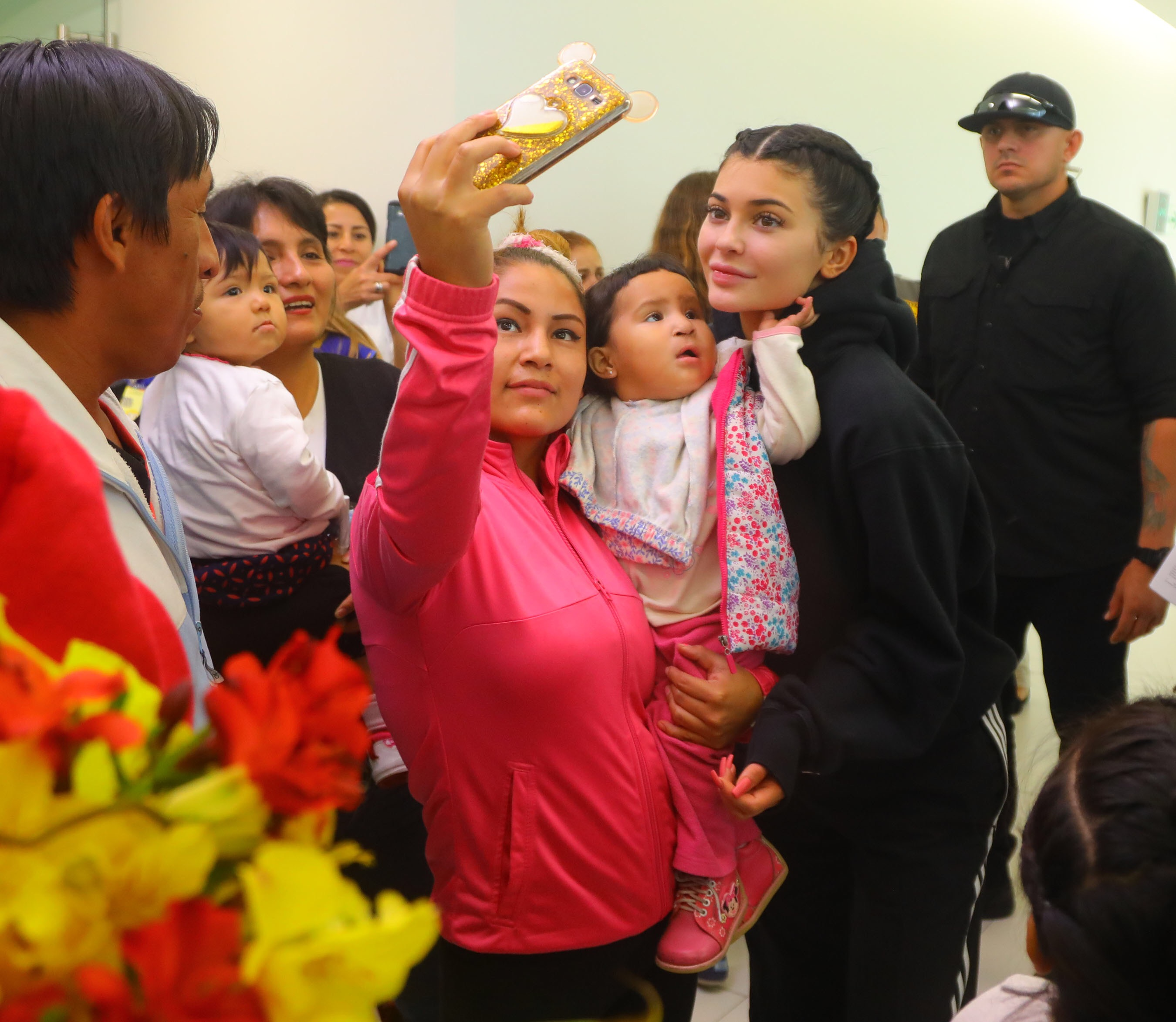 EXCLUSIVE Kylie Jenner is All Smiles Visiting a Hospital in Peru