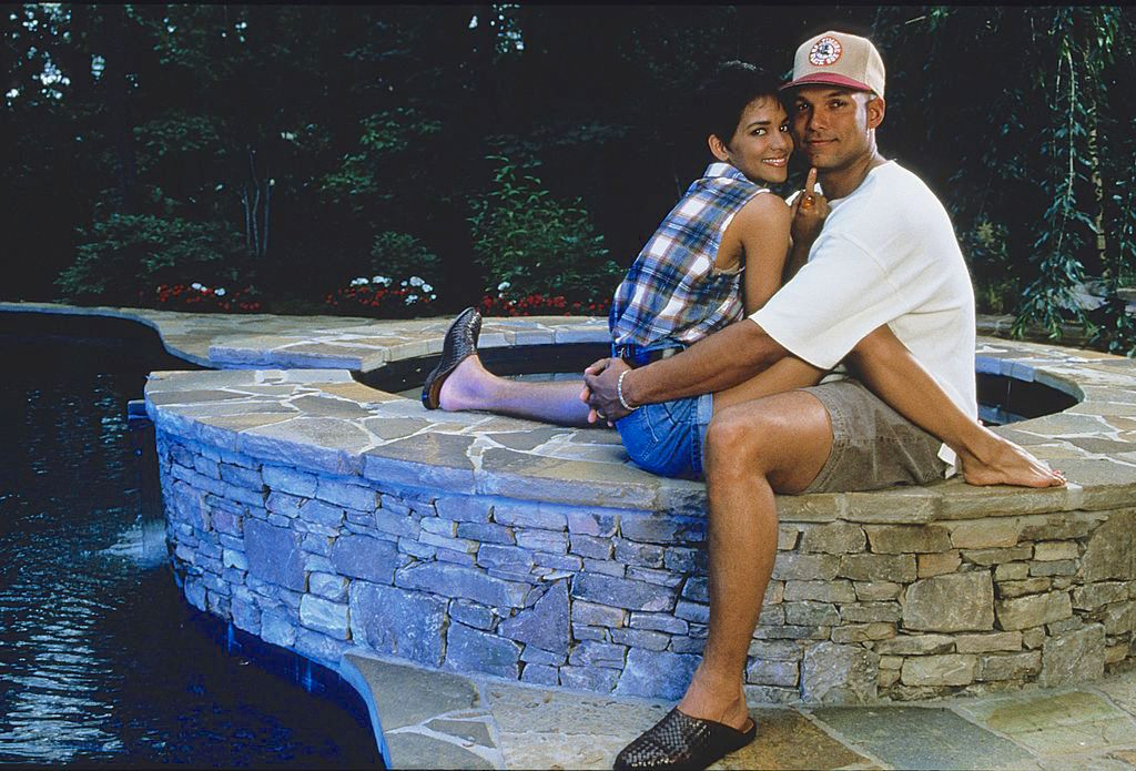 David Justice and Halle Berry