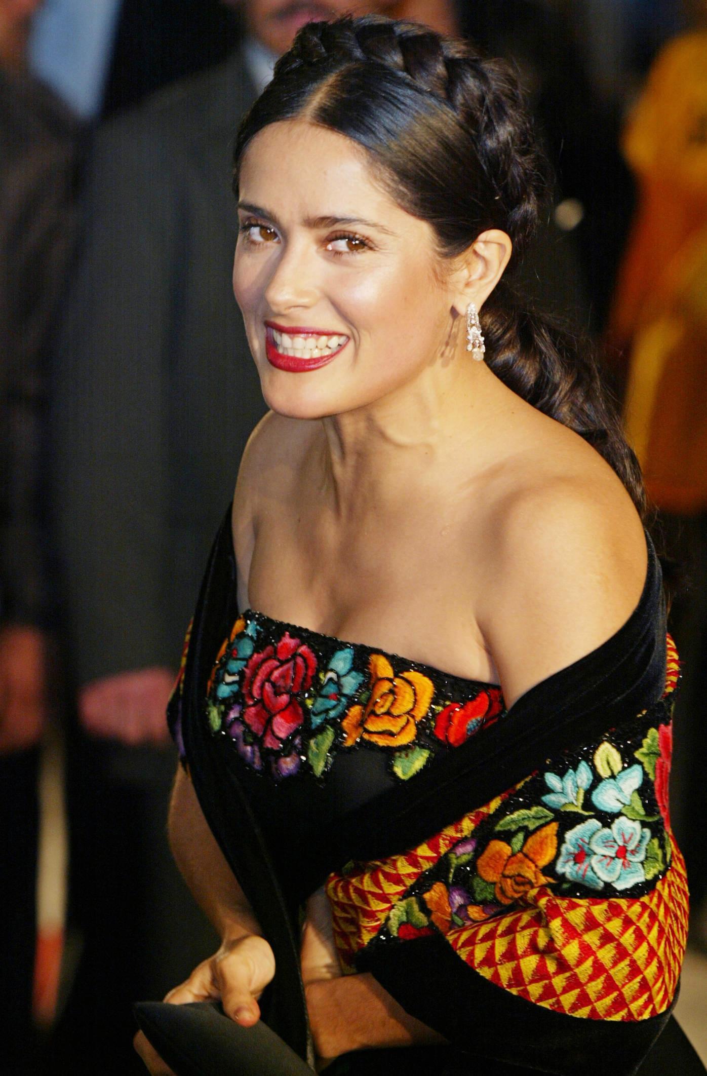 Mexican actress Salma Hayek arrives at the Palace