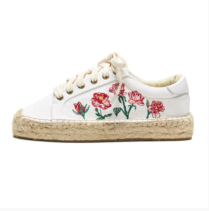 Soludos flores embroidered