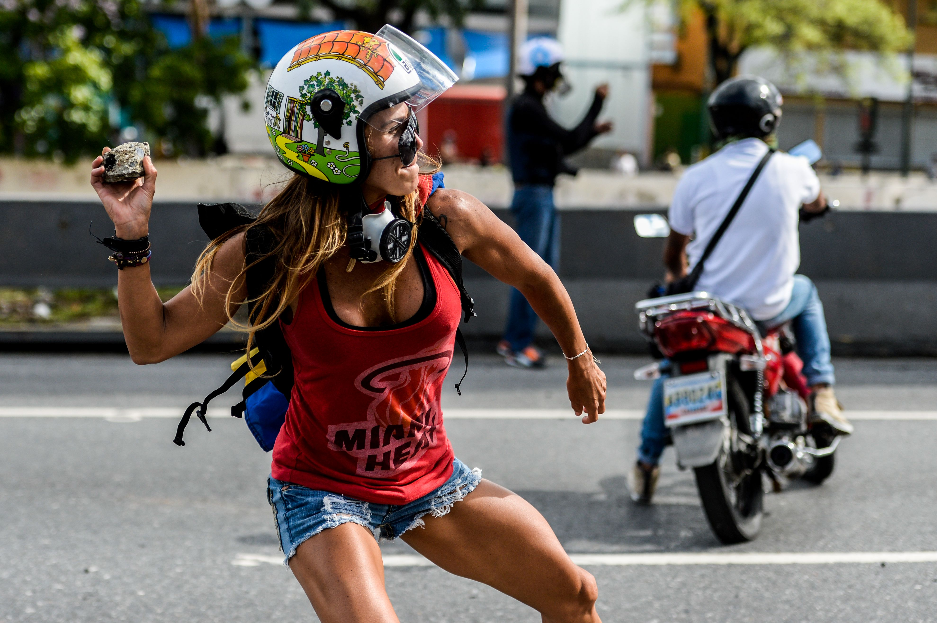 TOPSHOT-VENEZUELA-CRISIS-MAY DAY-OPPOSITION-PROTEST