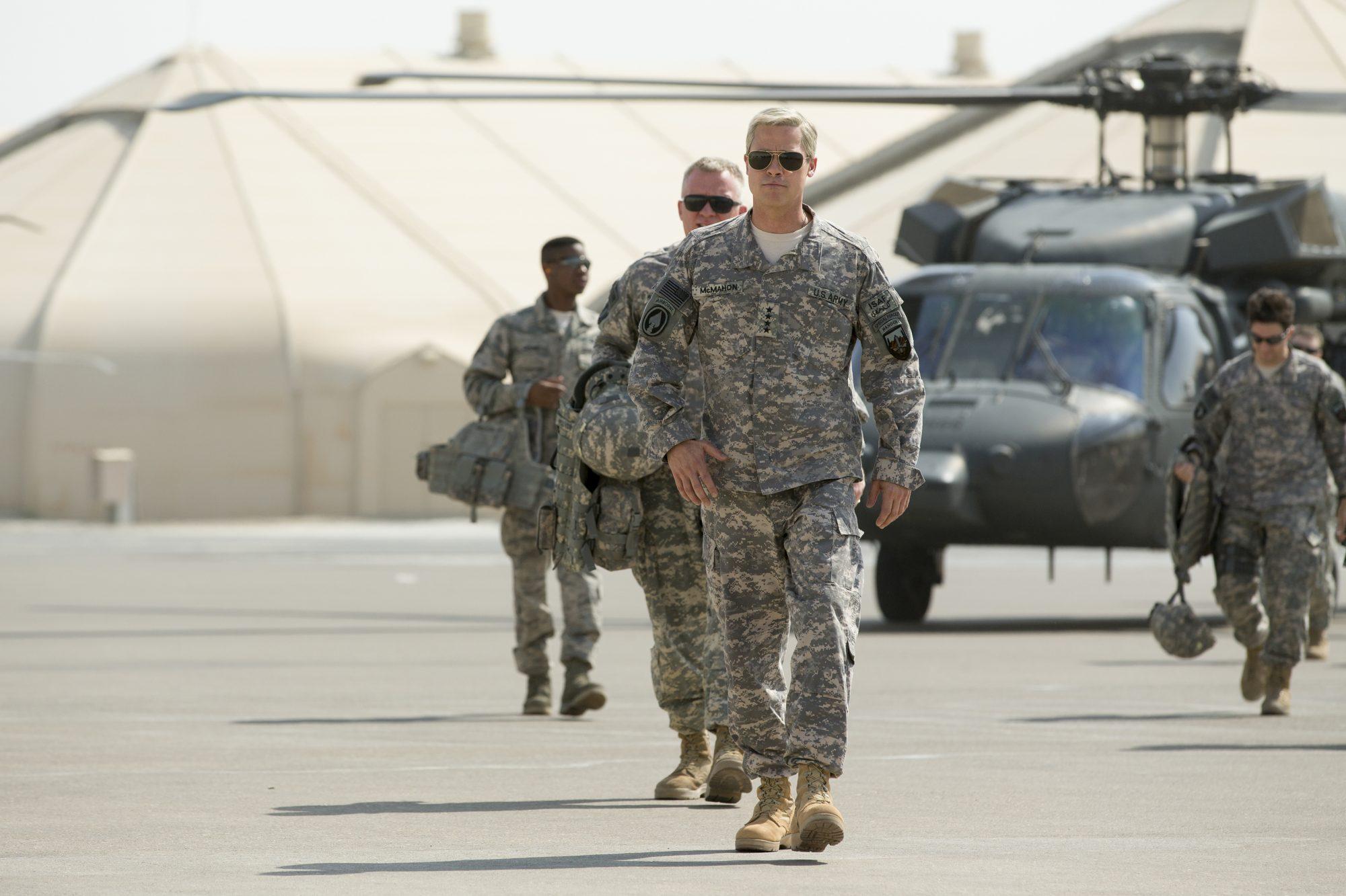 Brad Pitt en War Machine