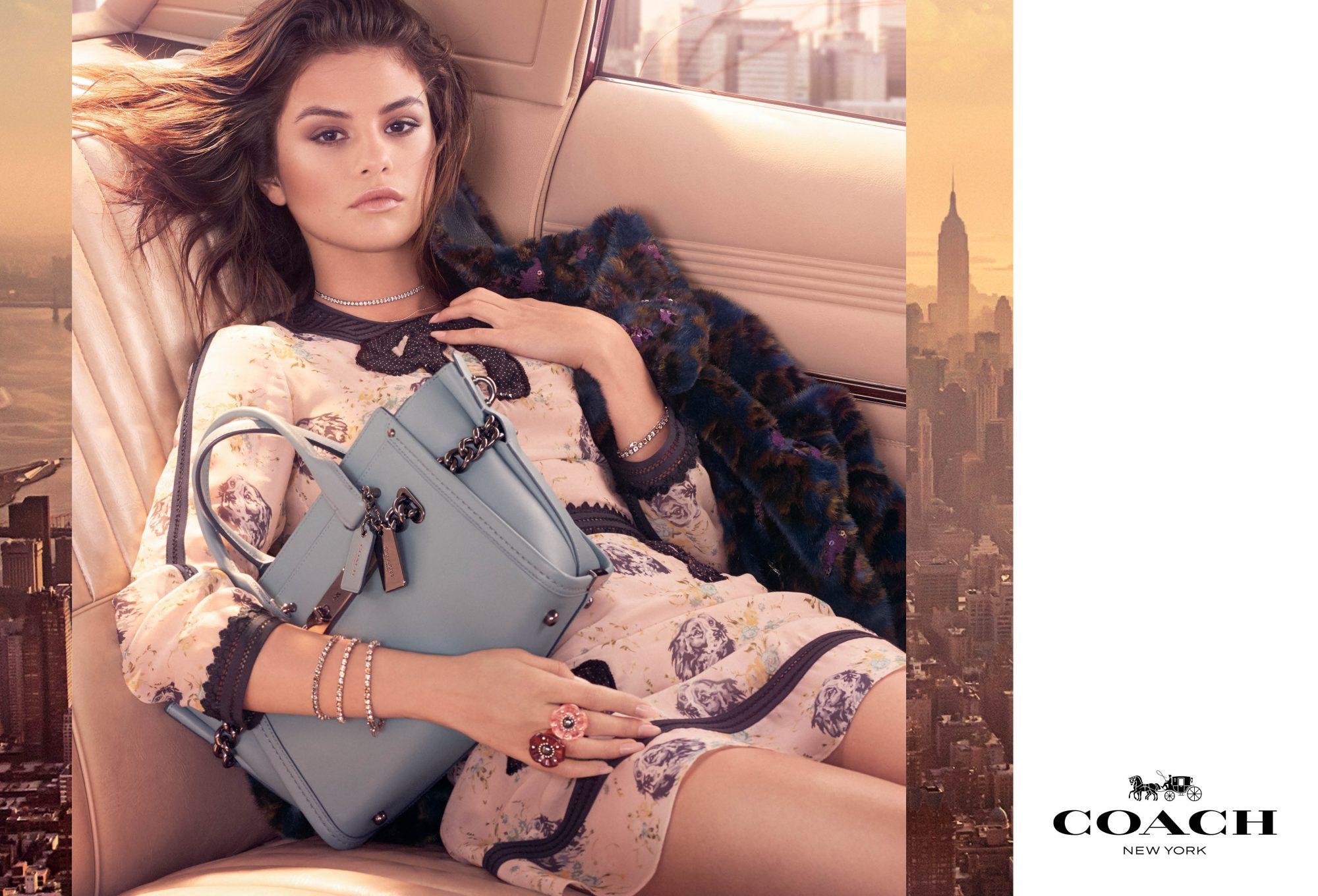 Selena Gomez, Coach, moda, carteras, bolsa, campaña