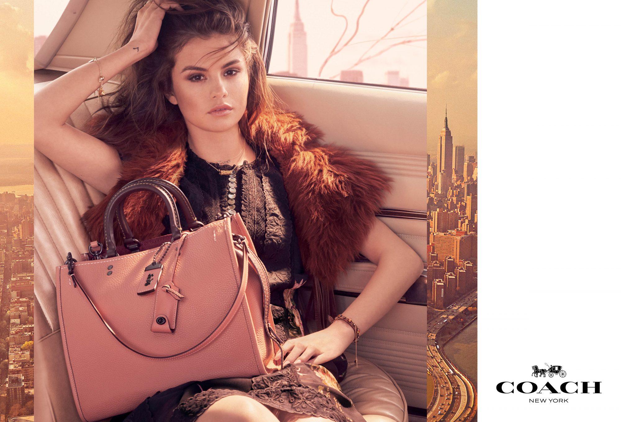 Selena Gomez, Coach, campaña, fotos, moda, carteras, bolsas