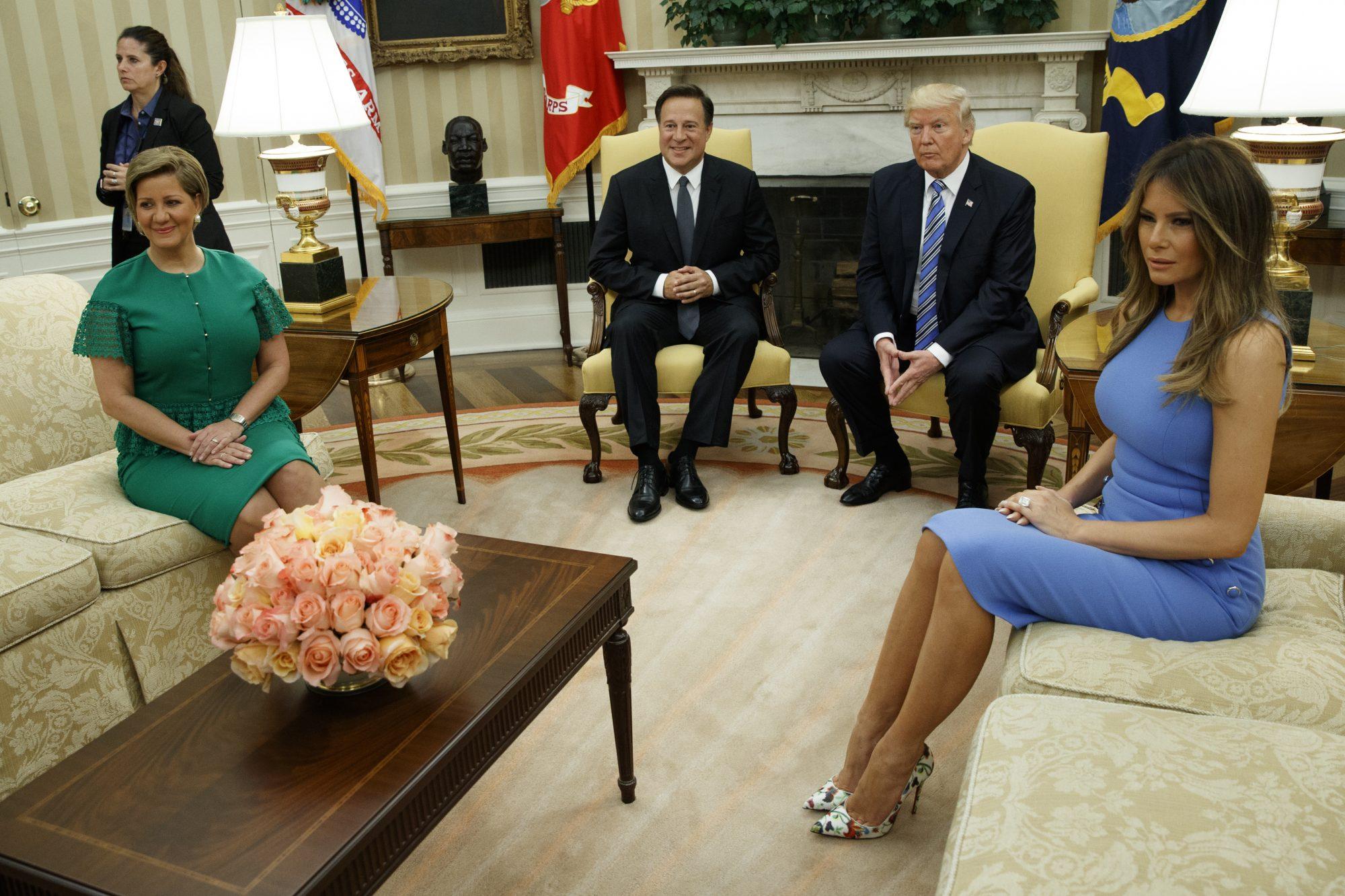 Donald Trump, Juan Carlos Varela, Melania Trump, Lorena Castillo