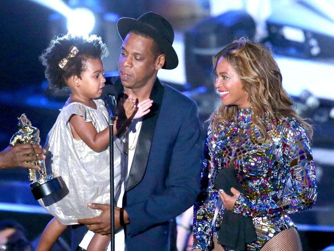 Blue Ivy Carter, Jay-Z y Beyoncé