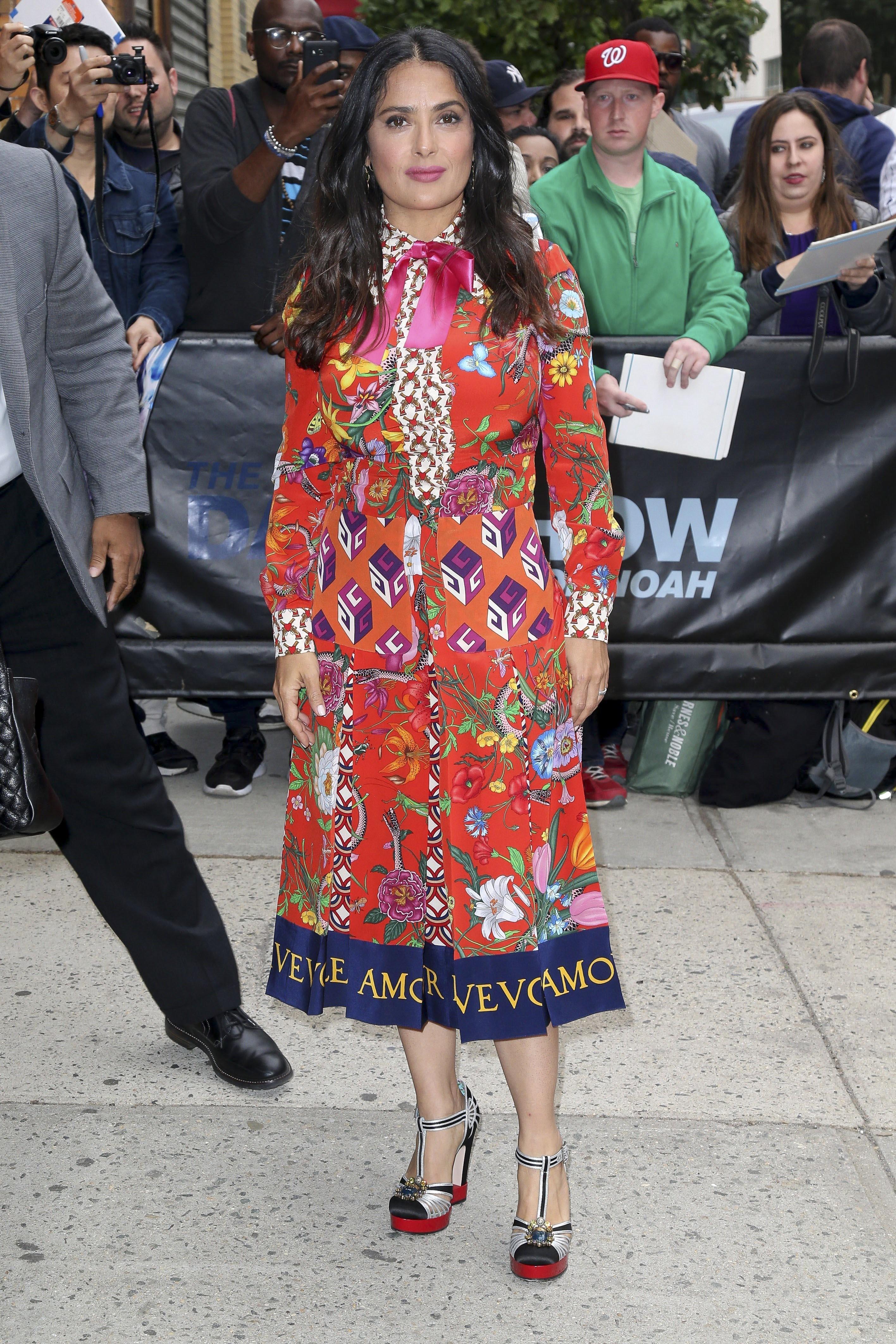 Salma Hayek, look, style, estilo, Gucci