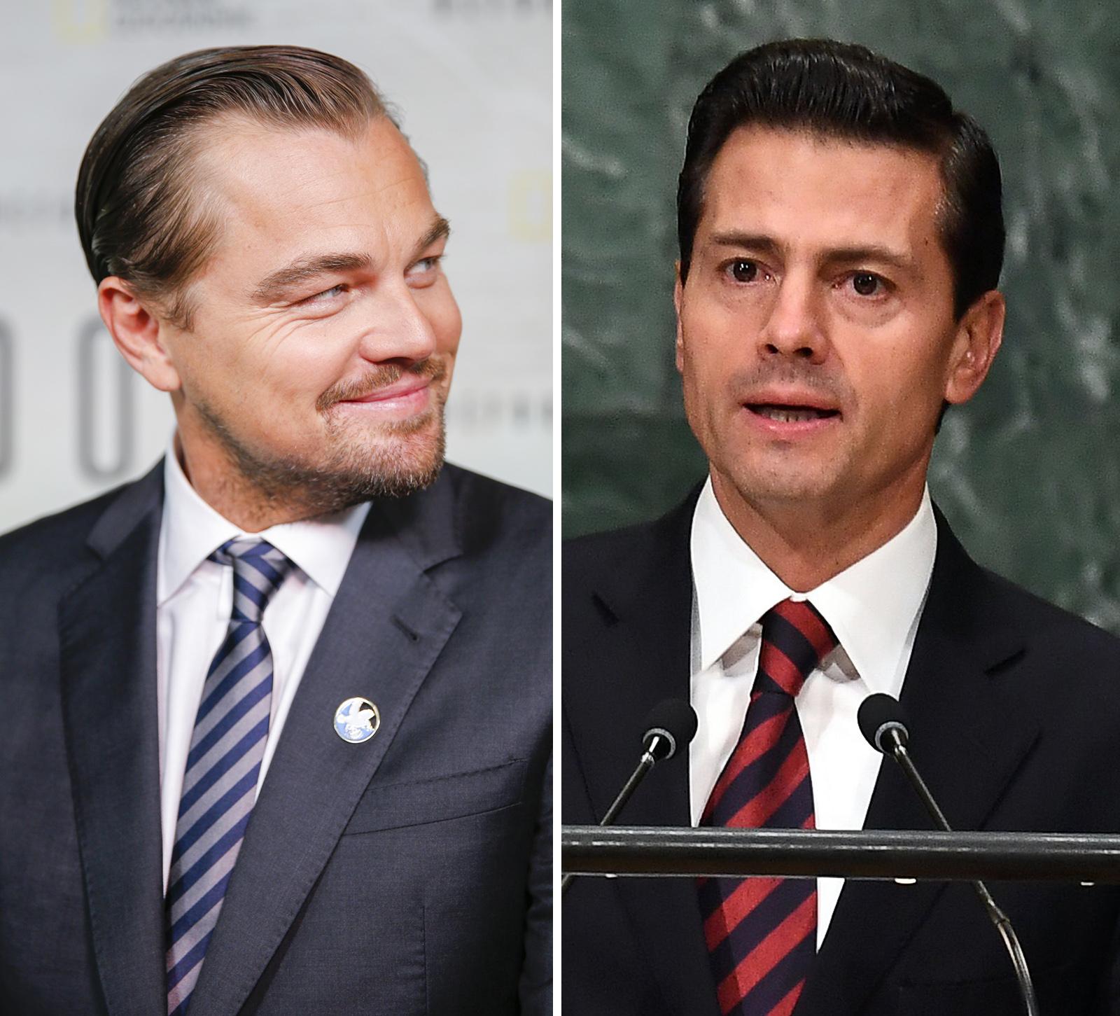 Leonardo DiCaprio y Presidente Peña Nieto