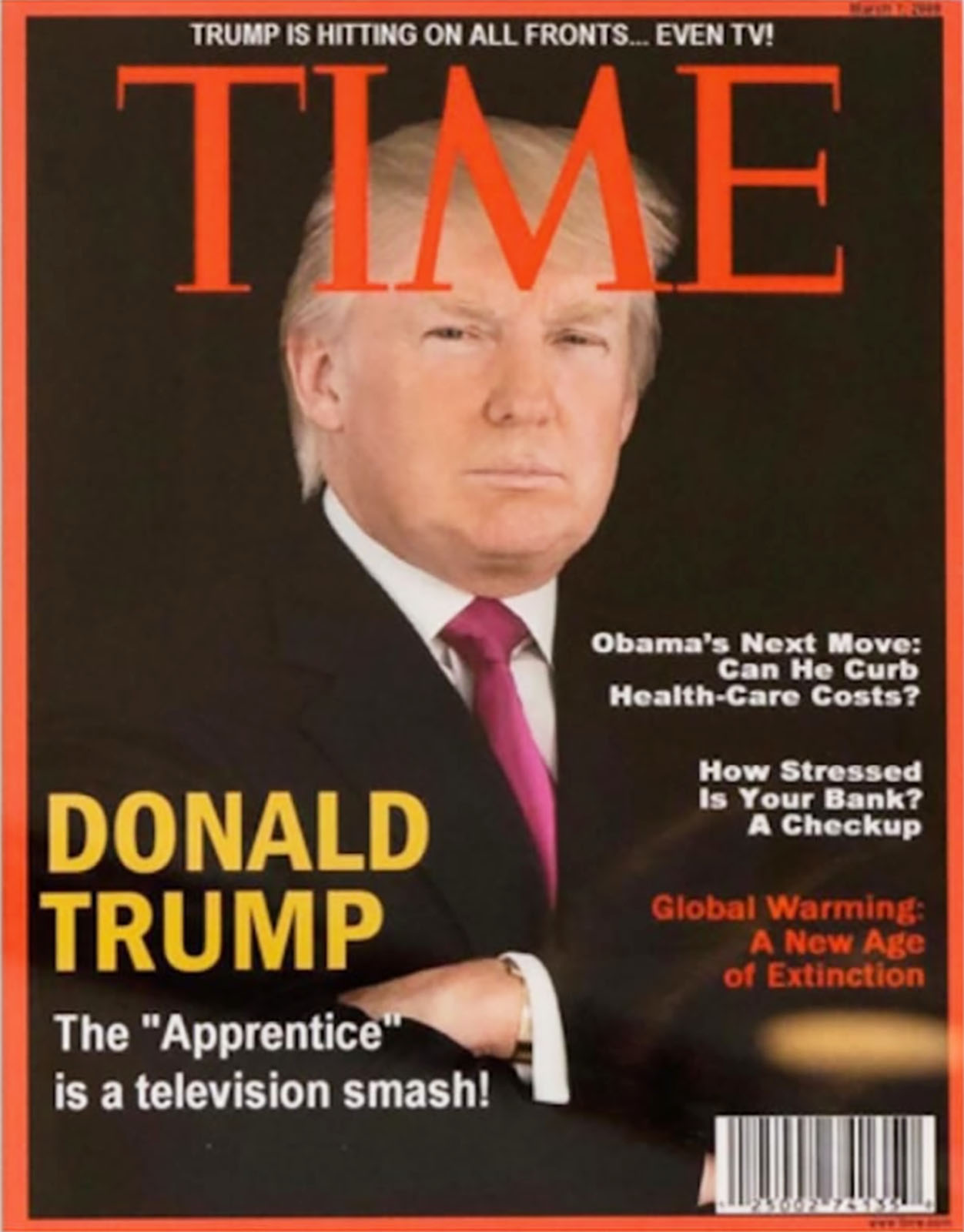 Donald Trump portada falsa de TIME