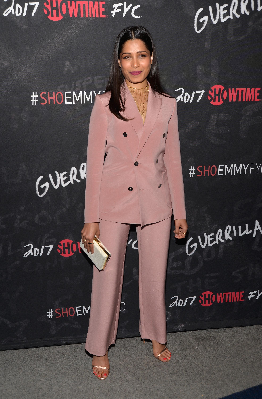 Freida Pinto, looks, estilo, style, set, pant suit,