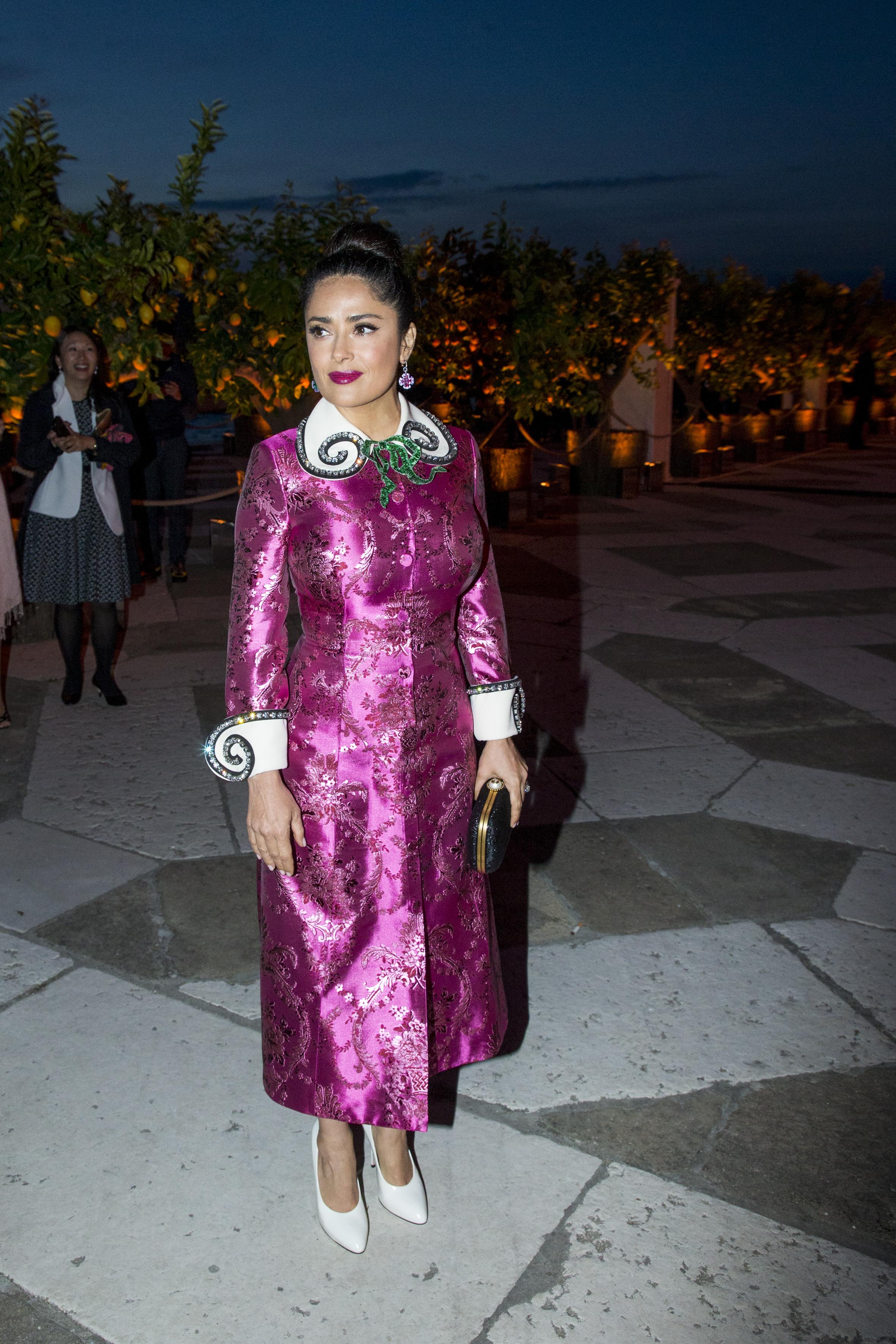 Salma Hayek, look, gucci, dress