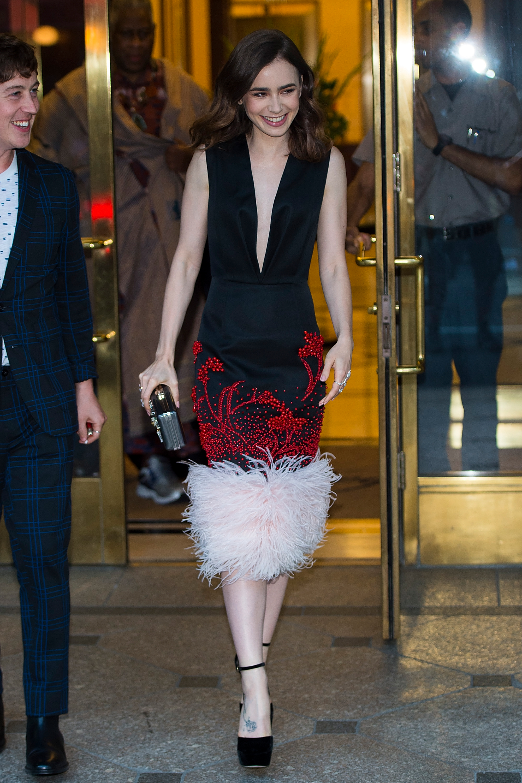 Lily Collins, looks, estilo, style