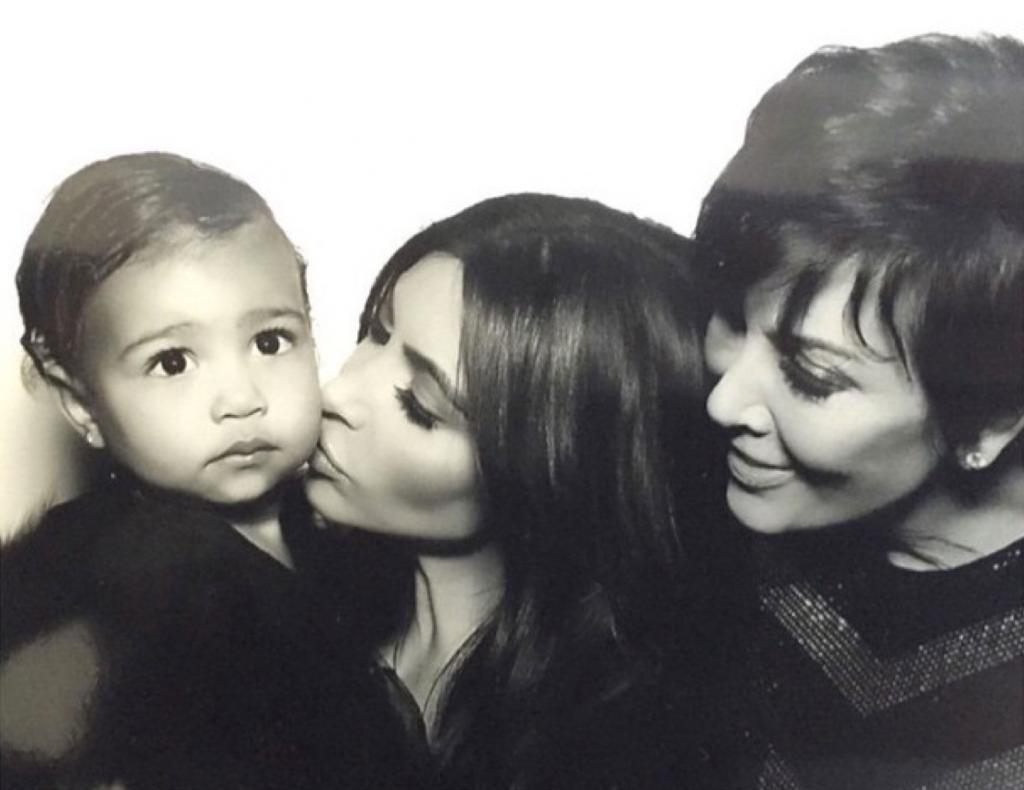 North West, Kim Kardashian, Kris Jenner