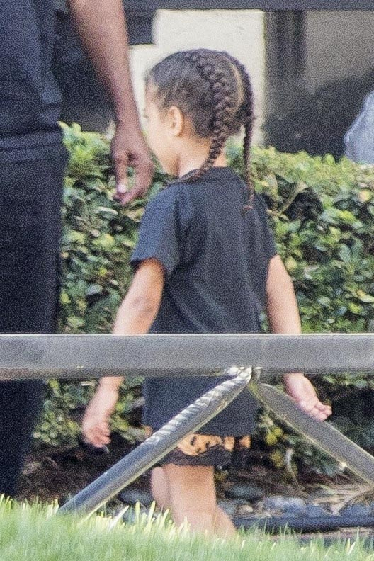 EXCLUSIVE Kim Kardashian and North West Wear Matching Braids