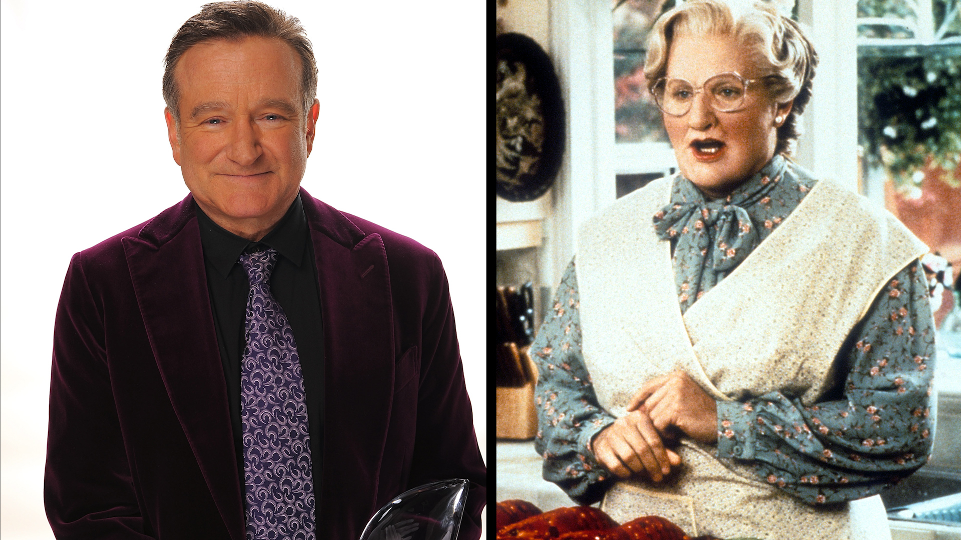 Robin William como Mrs. Doubtfire