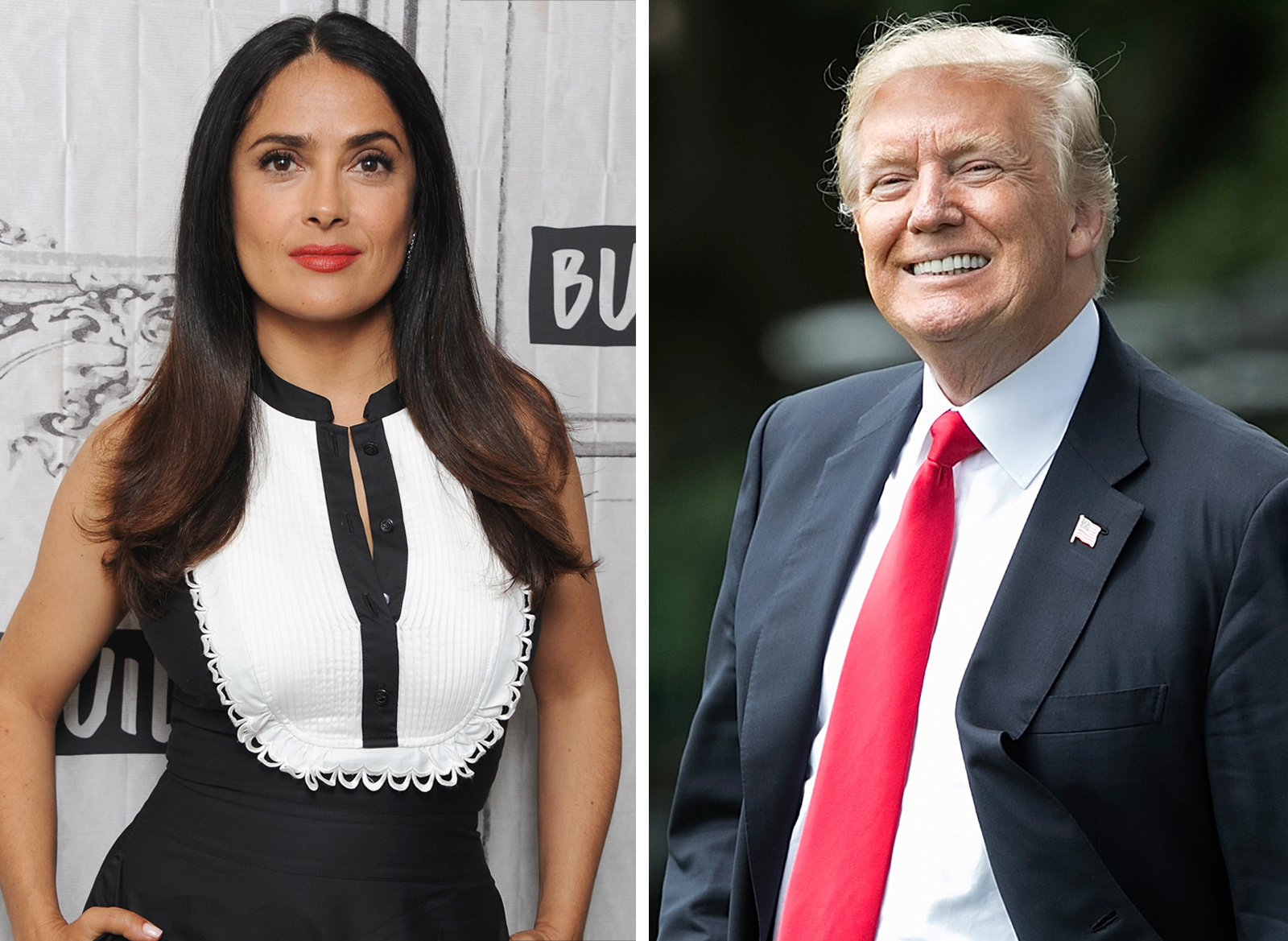 Salma Hayek y Donald Trump