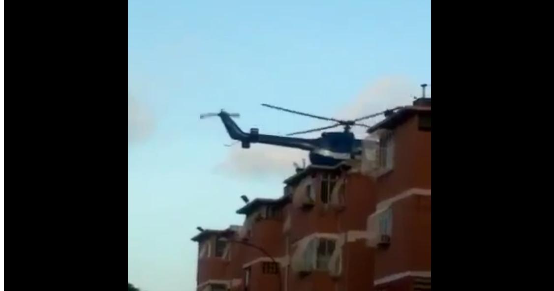 Helicóptero que atacó el Tribunal Supremo de Justicia en Caracas.