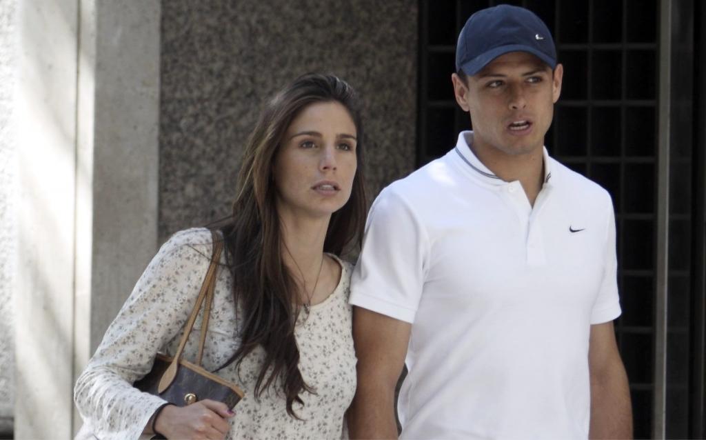 Javier Hernandez 'Chicharito' y Lucia Villalon