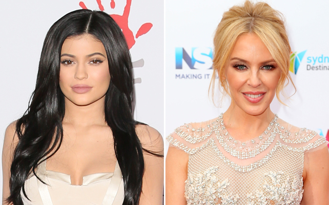 Kylie Jenner y Kylie Minogue