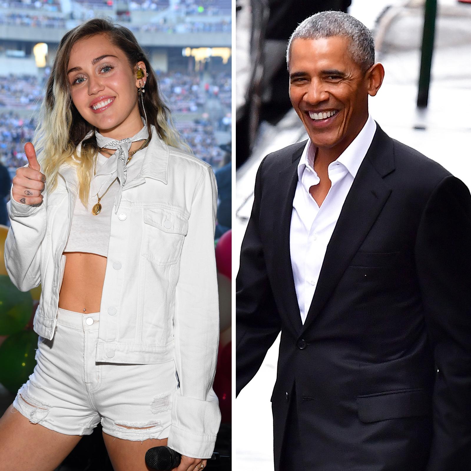 Miley Cyrus y Barack Obama