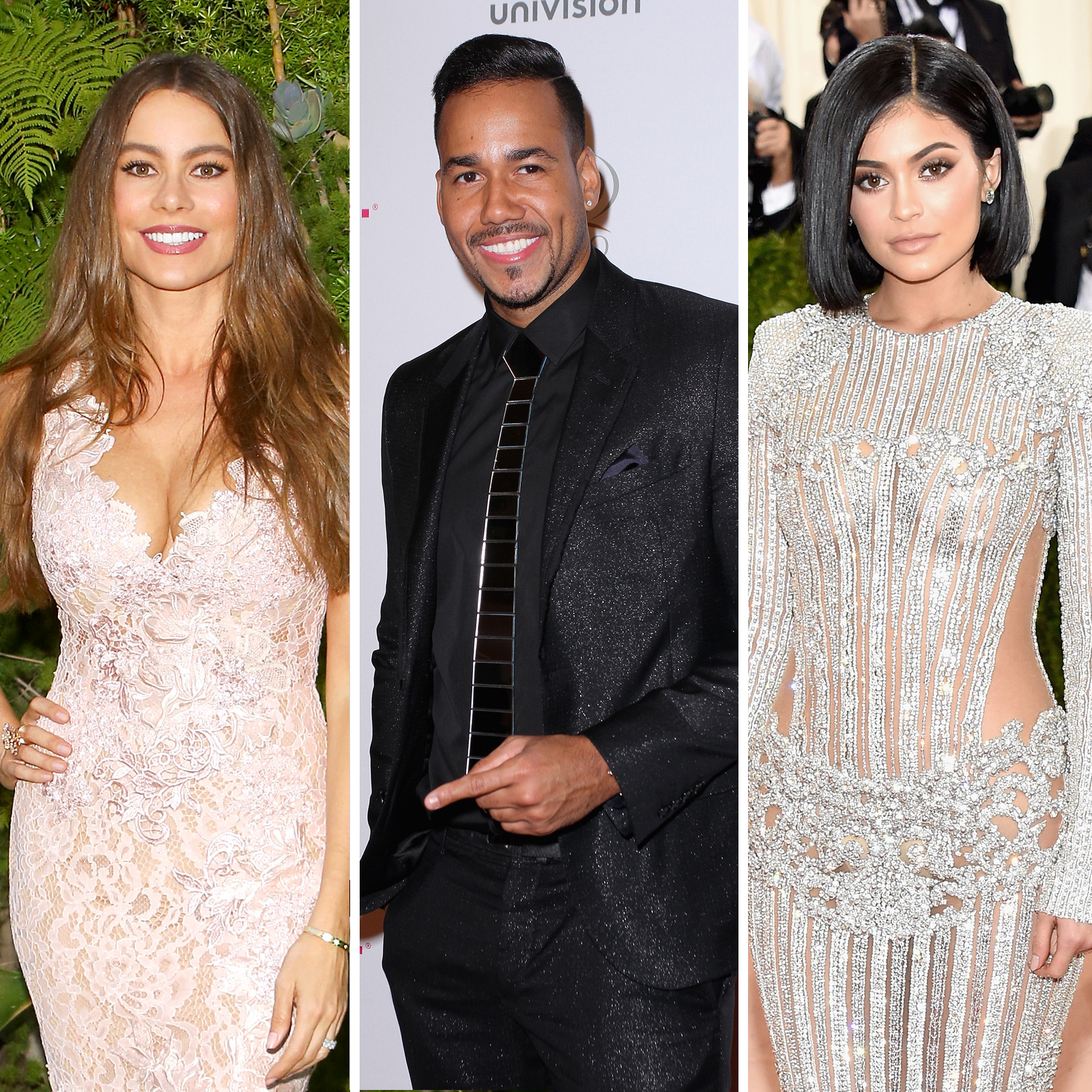 Sofia Vergara, Romeo Santos y Kylie Jenner
