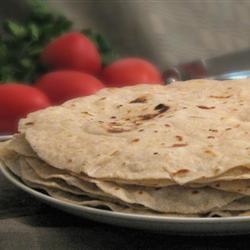 Tortillas integrales de harina