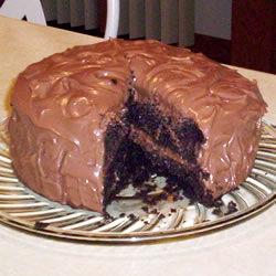Pastel de chocolate con mousse de chocolate