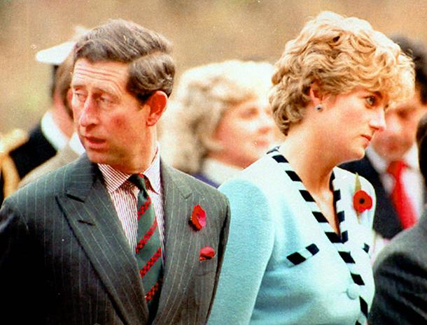 El príncipe Charles y la princesa Diana
