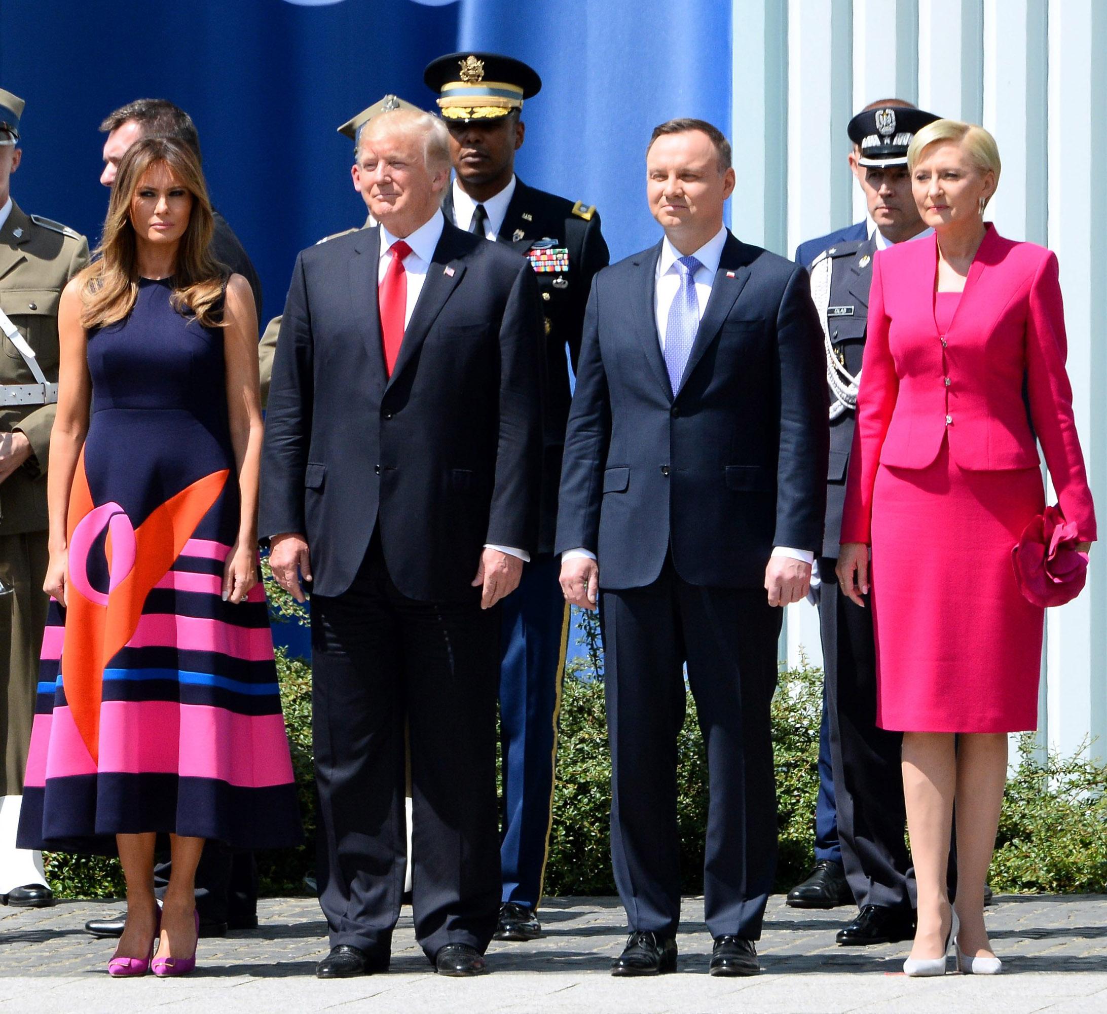 Melania Trump, Donald Trump, Andrzej Duda y Agata Agata Kornhauser-Duda