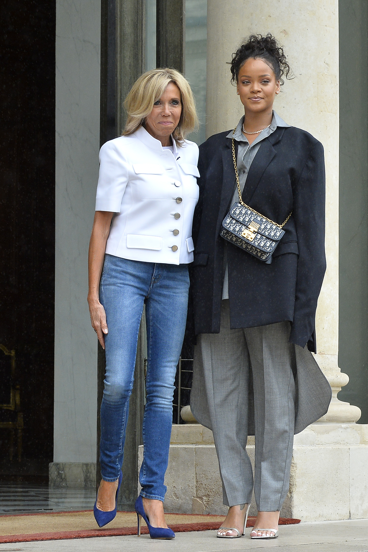 Rihanna, look, paris, primera dama, primer ministro, palacio eliseo, estilo