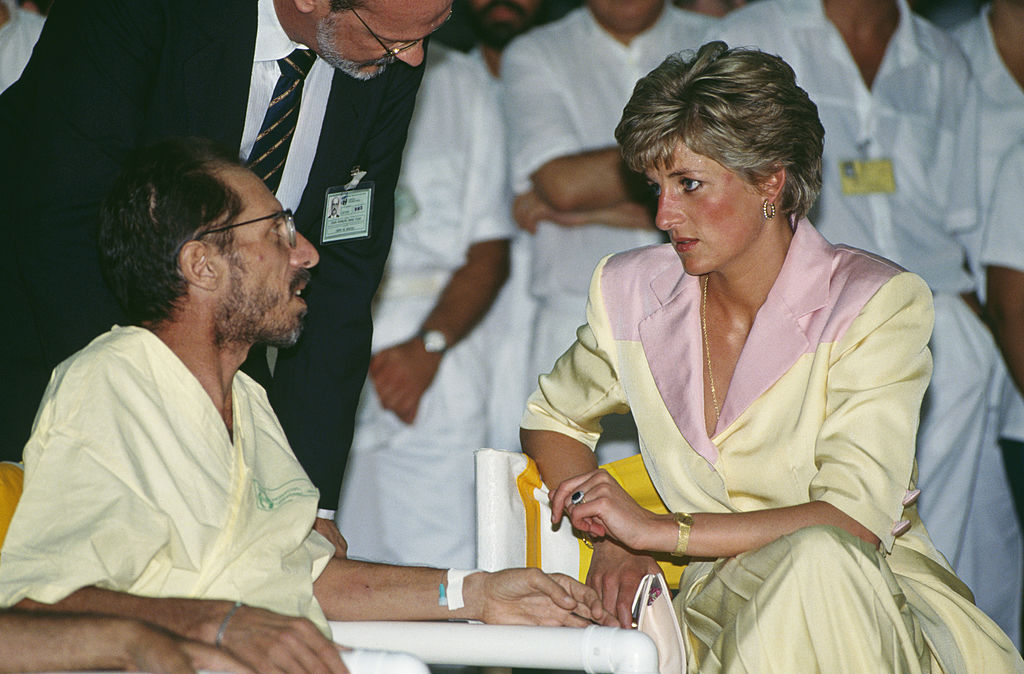 Diana Visits AIDS Patients