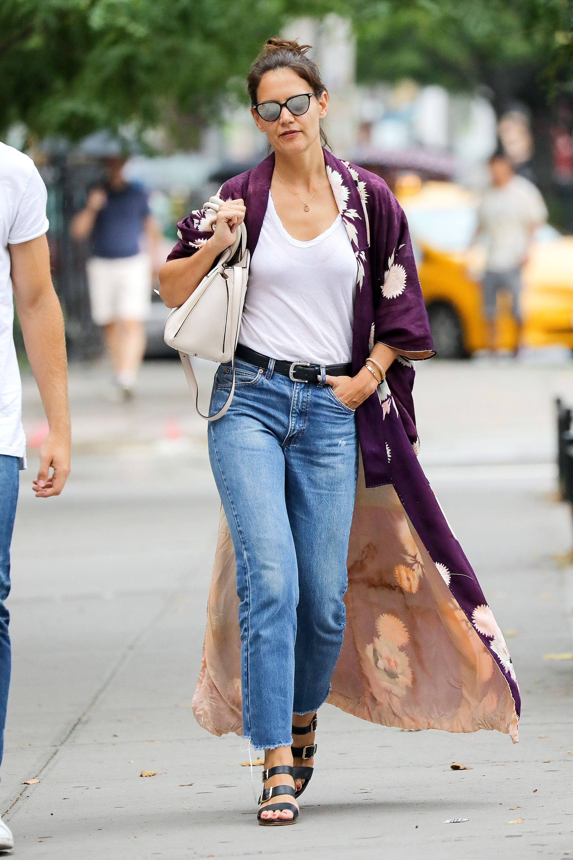 EXCLUSIVE Katie Holmes Looking Casual Chic in NYC