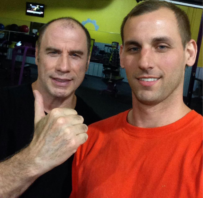 John Travolta y Justin Jones