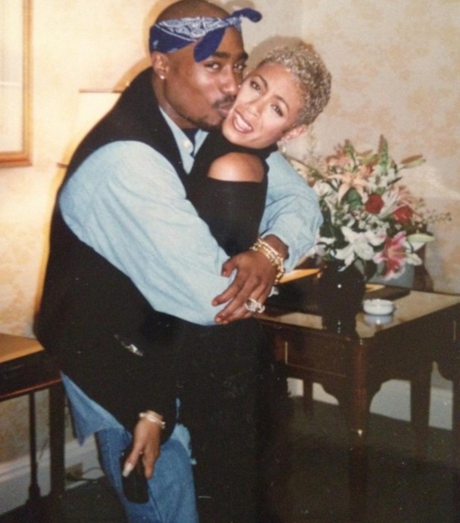 Tupac Shakur y Jada Pinkett Smith