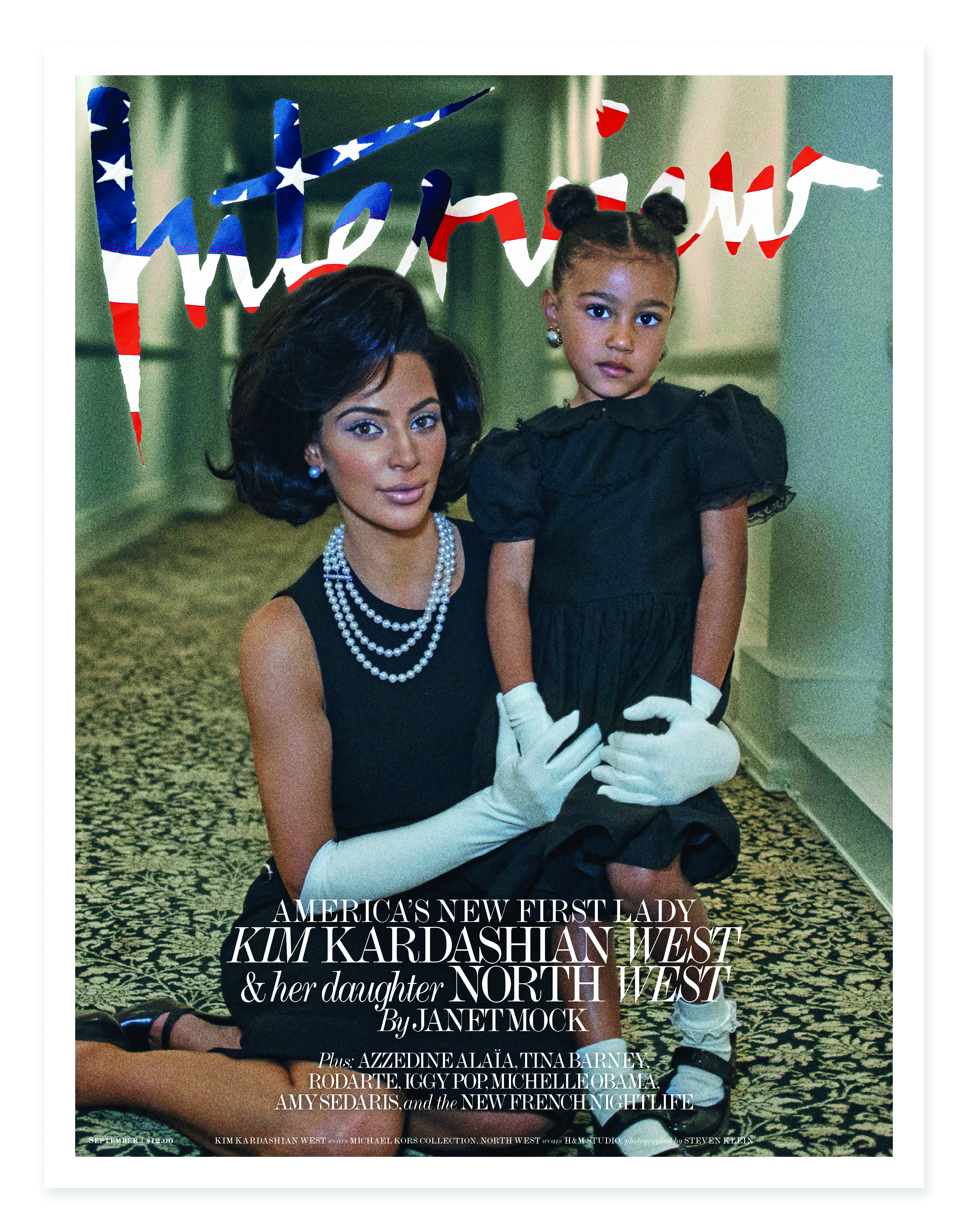 Kim Kardashian West & North West Cover Story for Interview Magazine