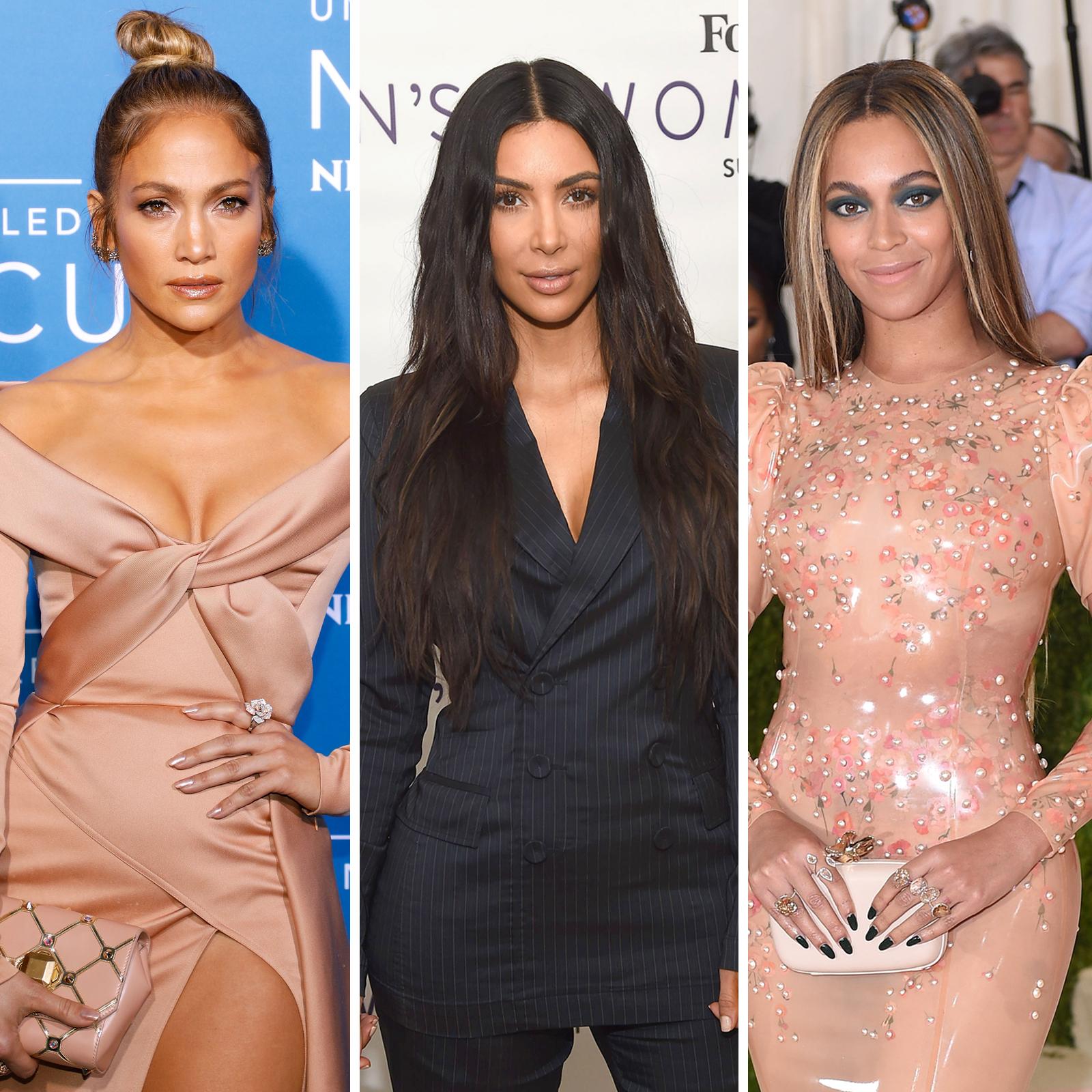 Jennifer Lopez, Kim Kardashian West y Beyonce