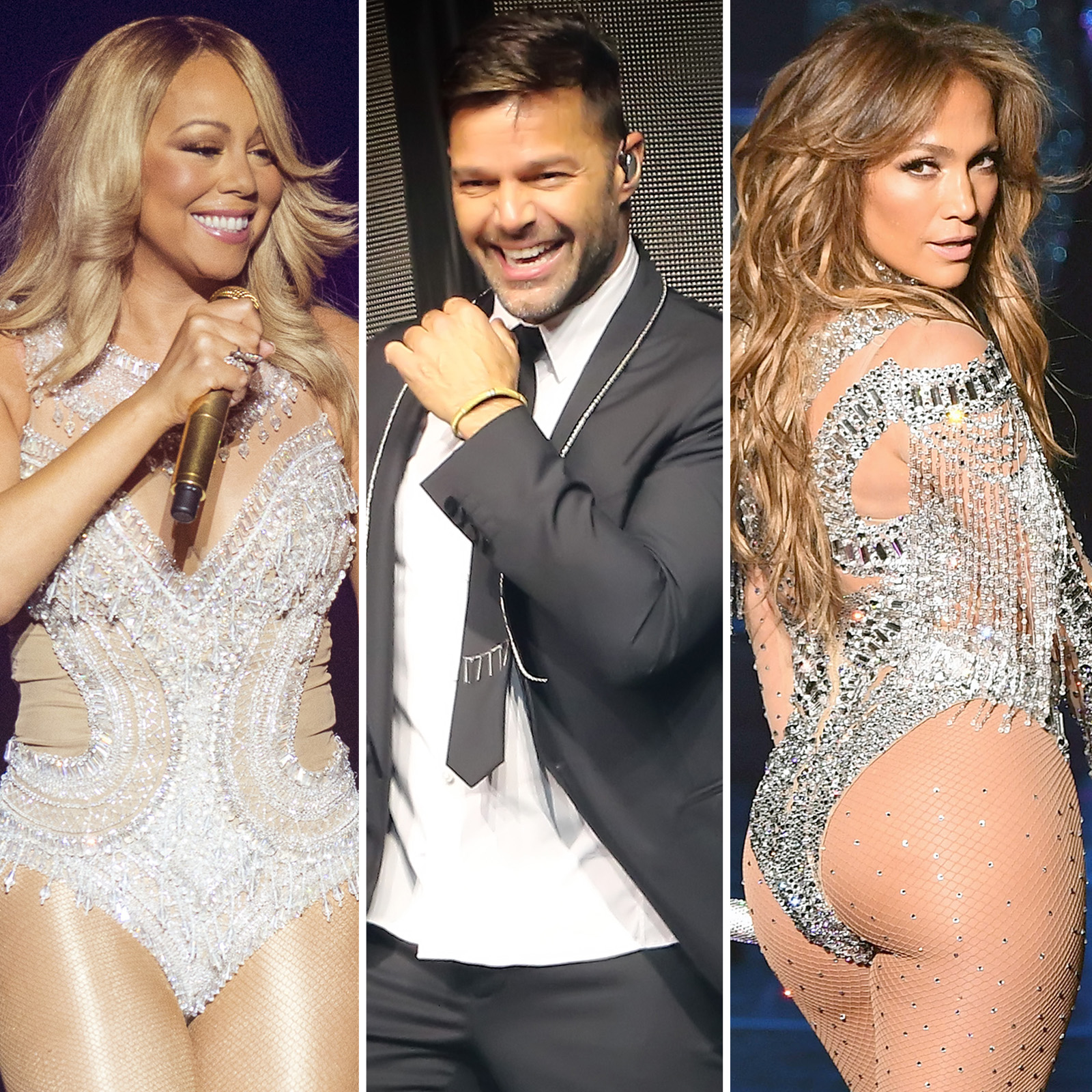 Mariah Carey, Ricky Martin y Jennifer Lopez