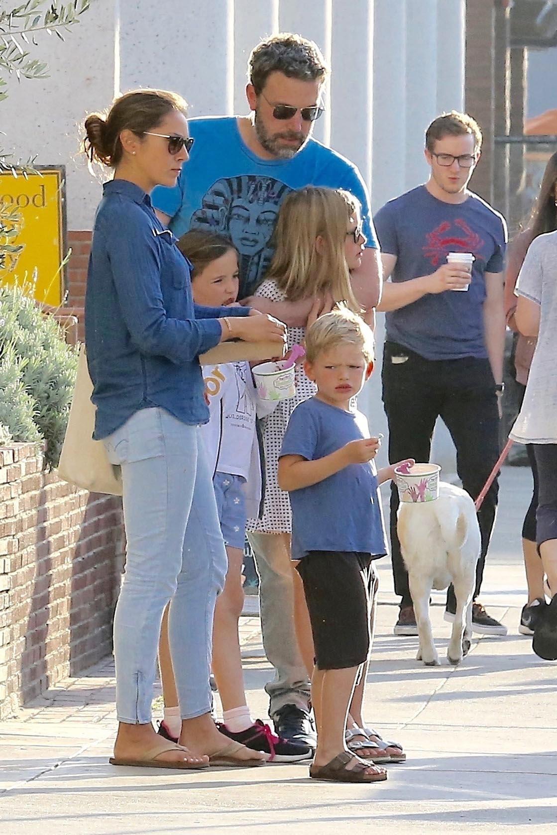 Ben Affleck y hijos