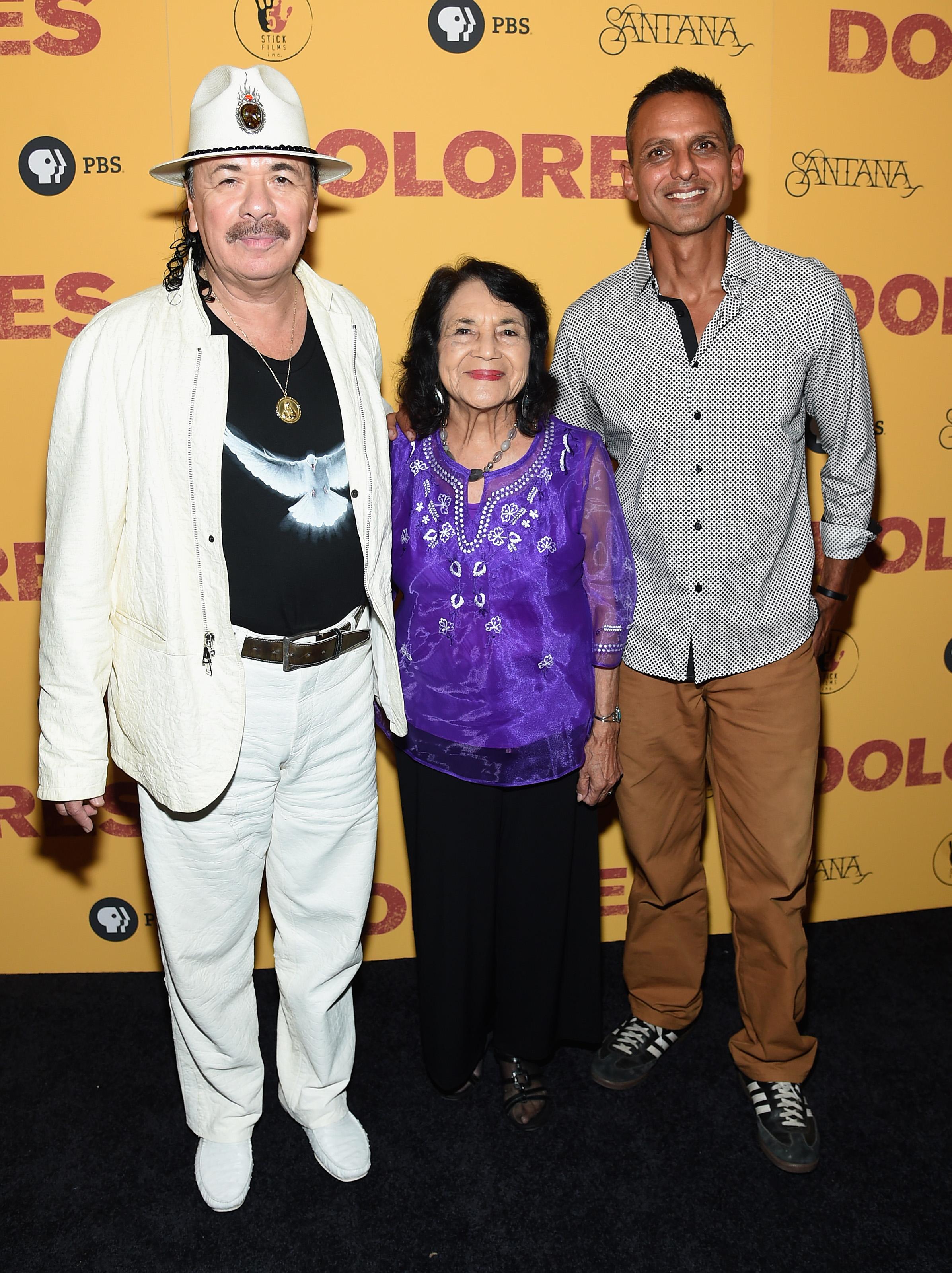 Carlos Santana, Dolores Huerta, Brian Bratt