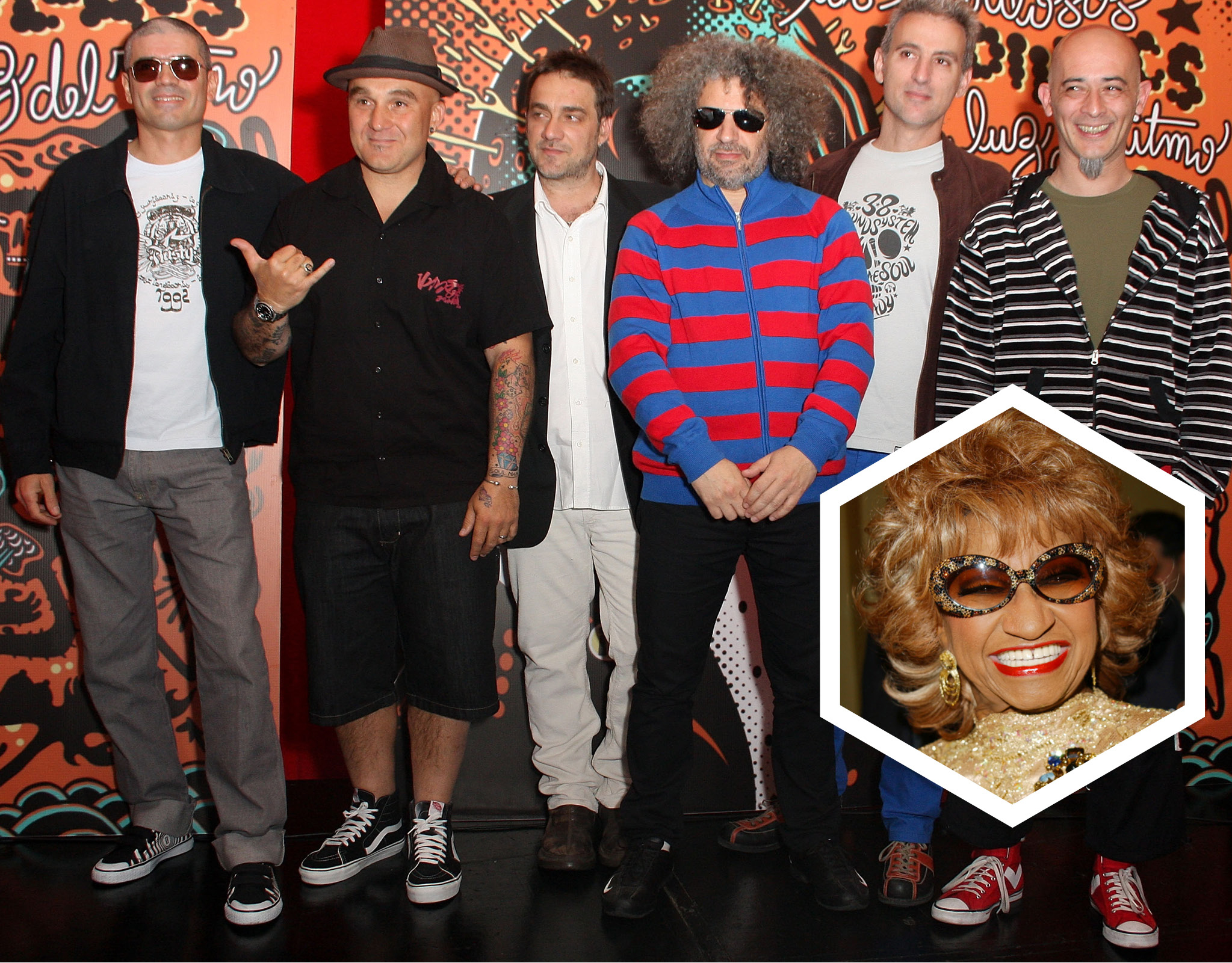 Los Fabulosos Cadillacs y Celia Cruz