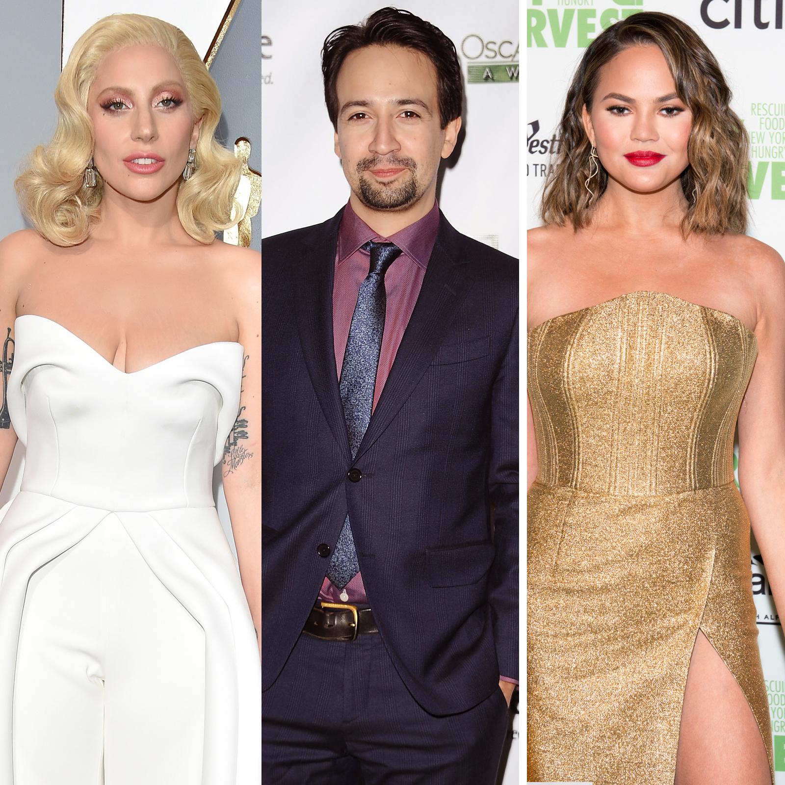 Lady Gaga, Lin-Manuel Miranda y Chrissy Teigen